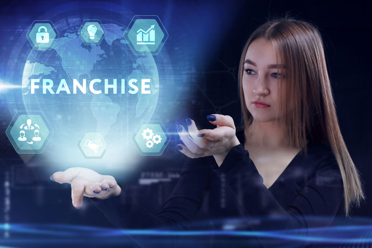 franchise executive leveraging social media tools