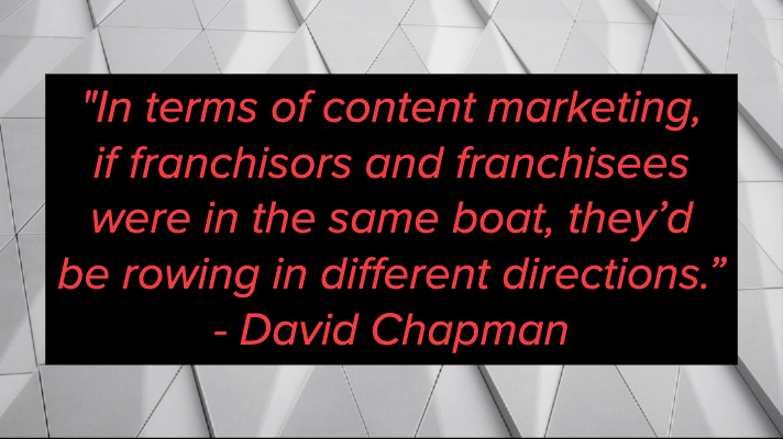 Quote by David Chapman on content marketing