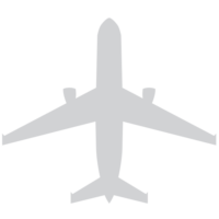 gray plane silhouette